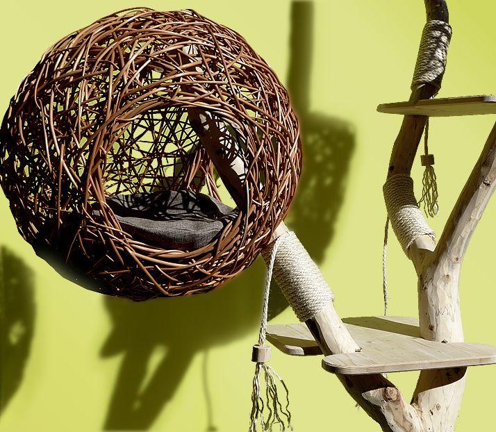 katzenbaum nest dieser moderne natur kratzbaum hat das. Black Bedroom Furniture Sets. Home Design Ideas