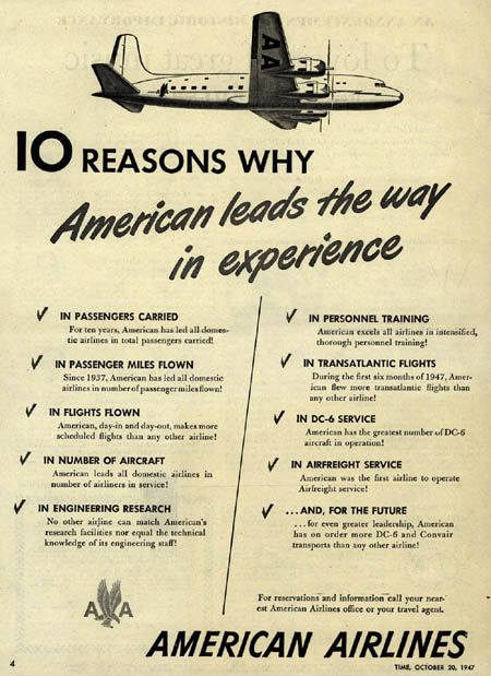 American Airlines - 1947