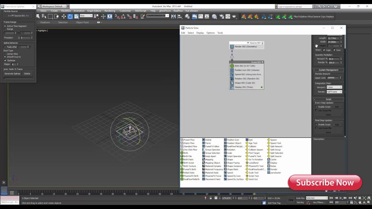 Particles to spline script for 3ds max free downloads
