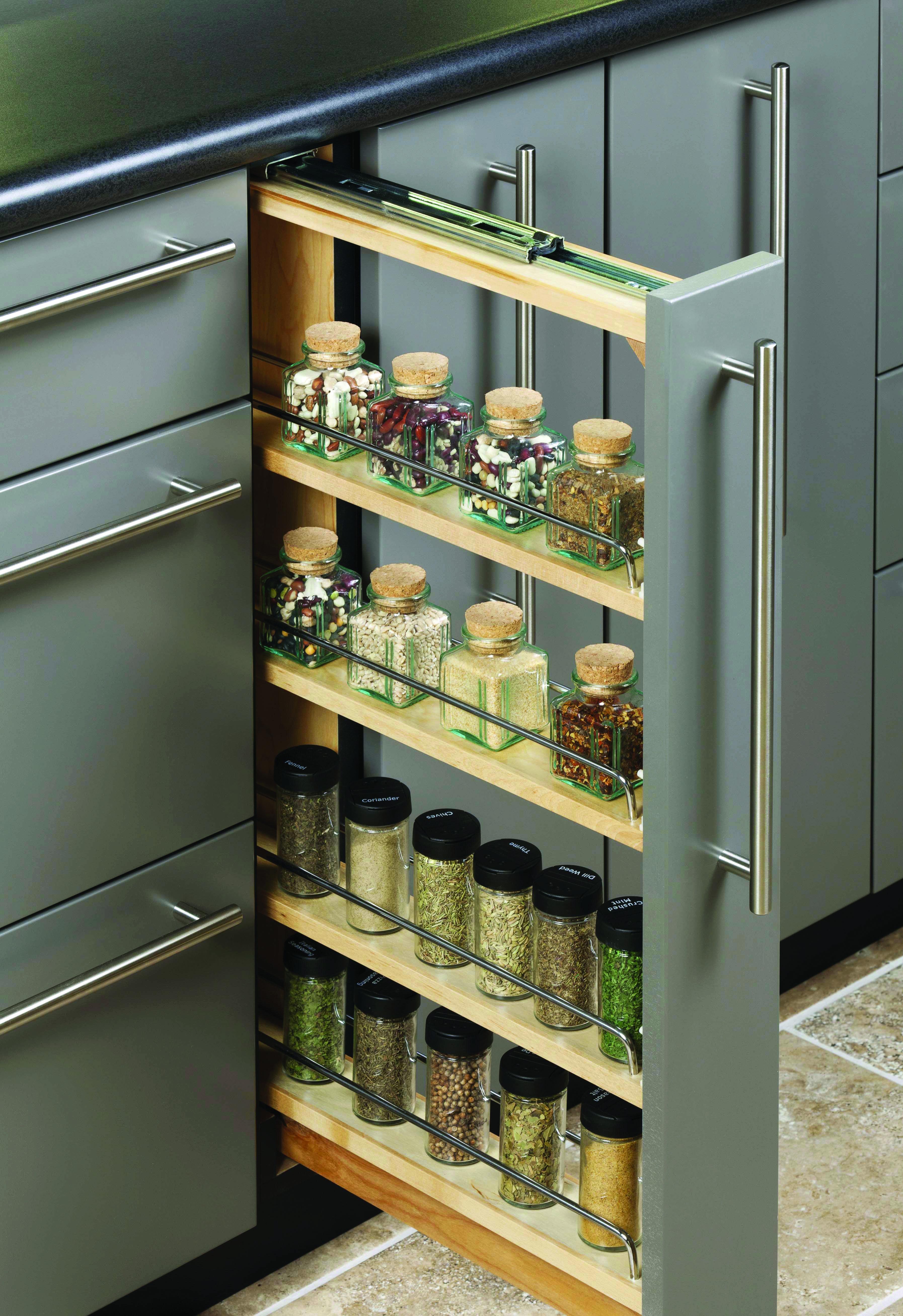The Most Popular Kitchen Storage Ideas On Houzz Simple Kitchen Cabinets Kitchen Cabinet Storage Small Kitchen Storage