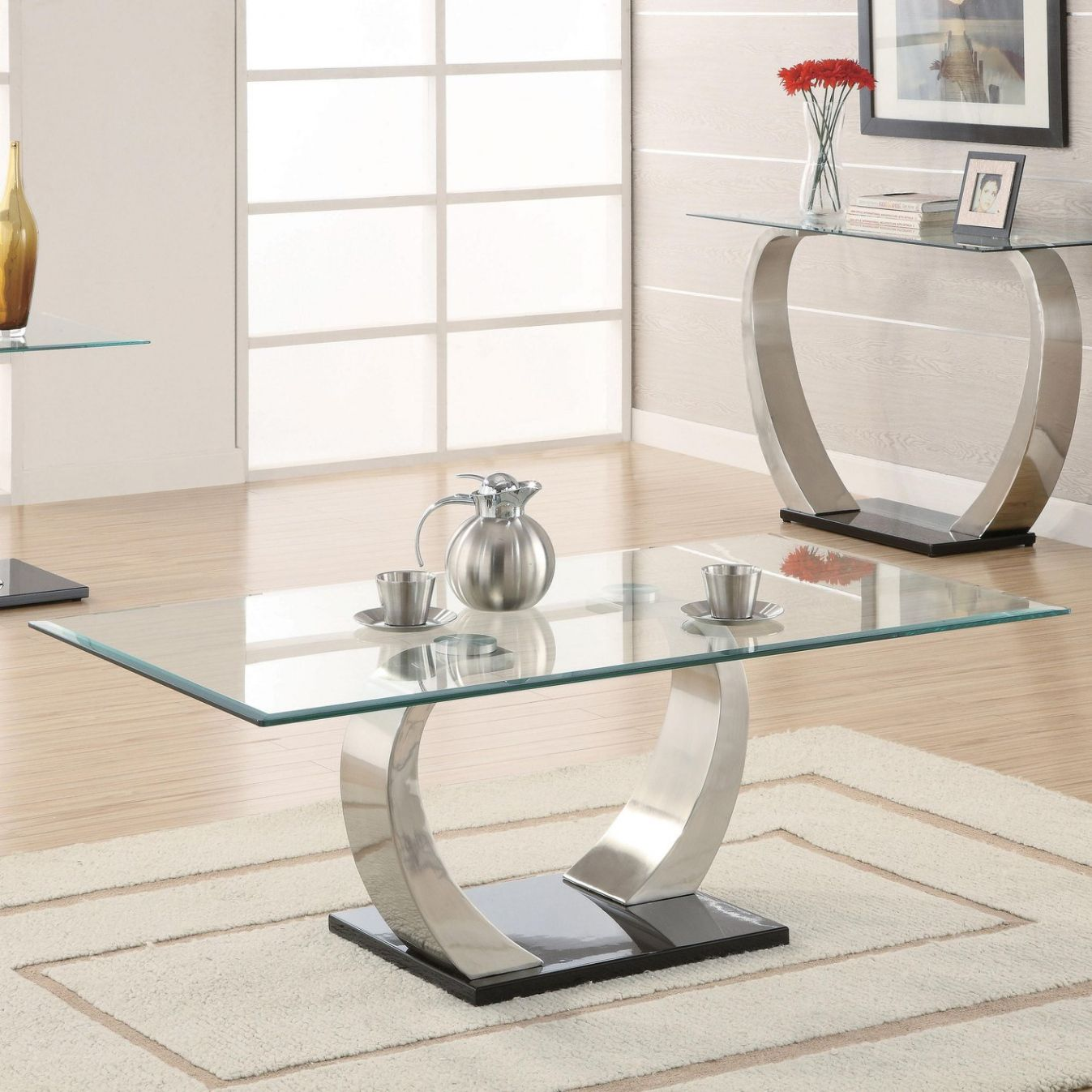 Silver Glass Coffee Table Modern Used Furniture Check More At Http Www Nikkitsfun Com Silver Glass Coffee Table Meja Kopi Meja Makan Meja Kaca Living room glass table