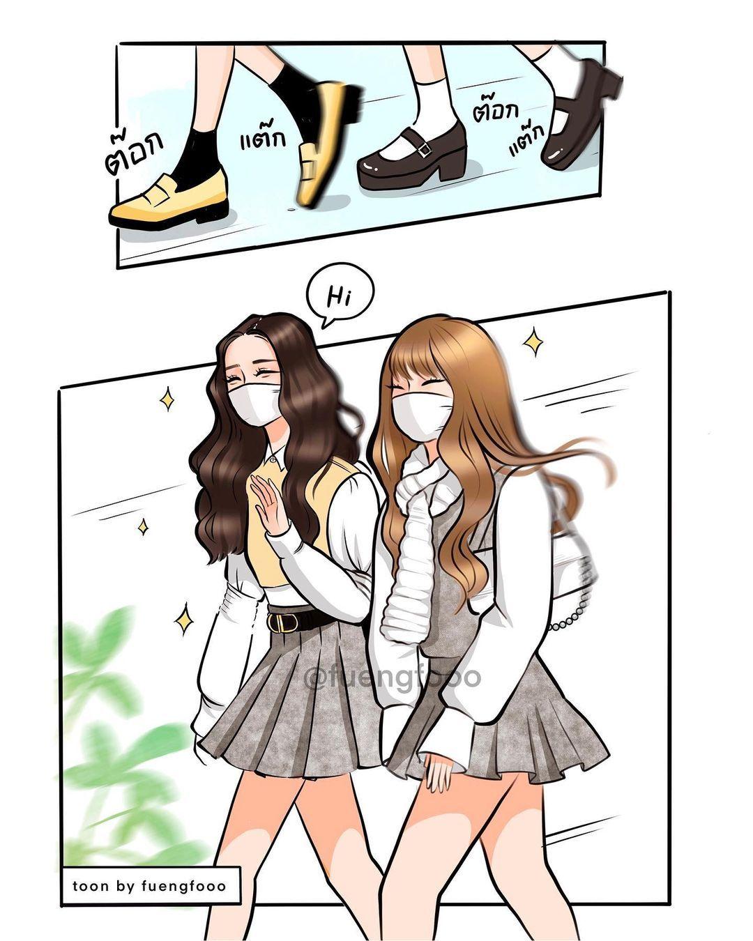 𝗙𝗨𝗘𝗡𝗚𝗙𝗢𝗢𝗢 เ ฟ อ ง ฟ En Instagram At Knowing Brother School หาทำอ กแล ว ม ความอยากวาดการ ต นไอ ต าว 4 ก Blackpink Poster Fan Art Anime