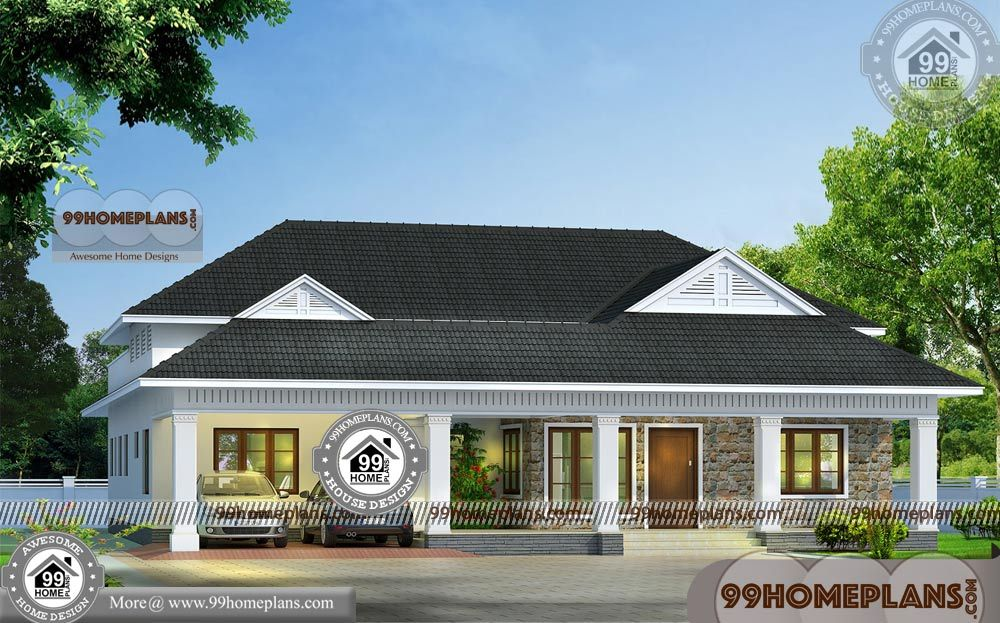 New Single House Design With Traditional Kerala Style House Plans Having 1 Floor 4 Total Be House Structure Design Kerala House Design Traditional House Plans