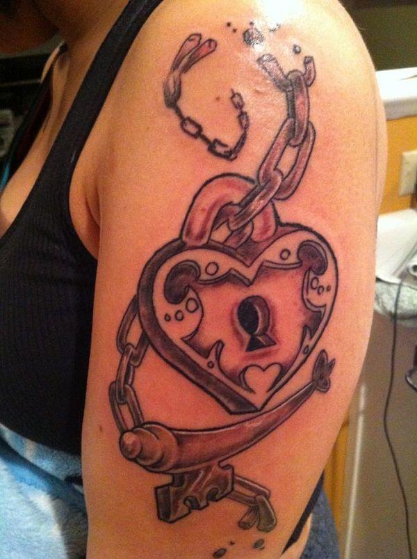 35 meaningful lock and keys tattoos key tattoo designs key tattoos and tattoo designs. Black Bedroom Furniture Sets. Home Design Ideas