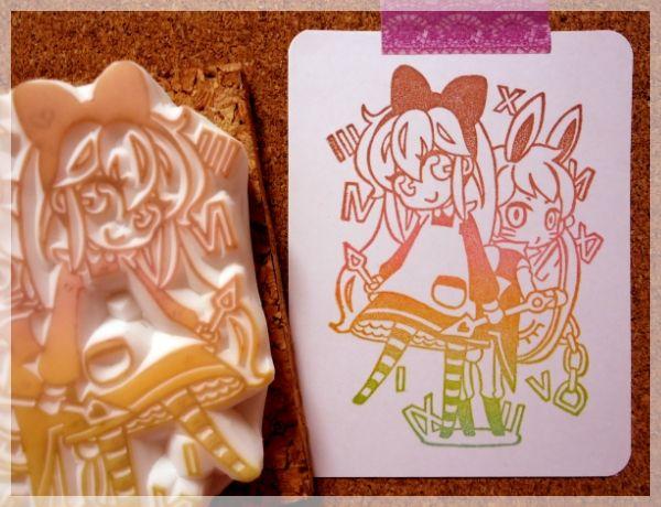 ハンドメイド消しゴムはんこ不思議の国のアリス風 Handmade ¥4900円 〆03月19日
