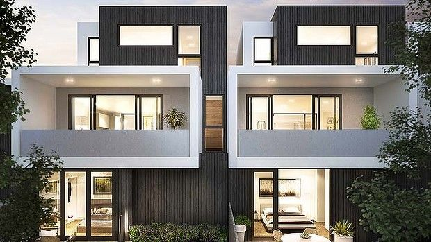 Hemingway rewrites alphington townhouse contemporary for Townhouse architectural styles