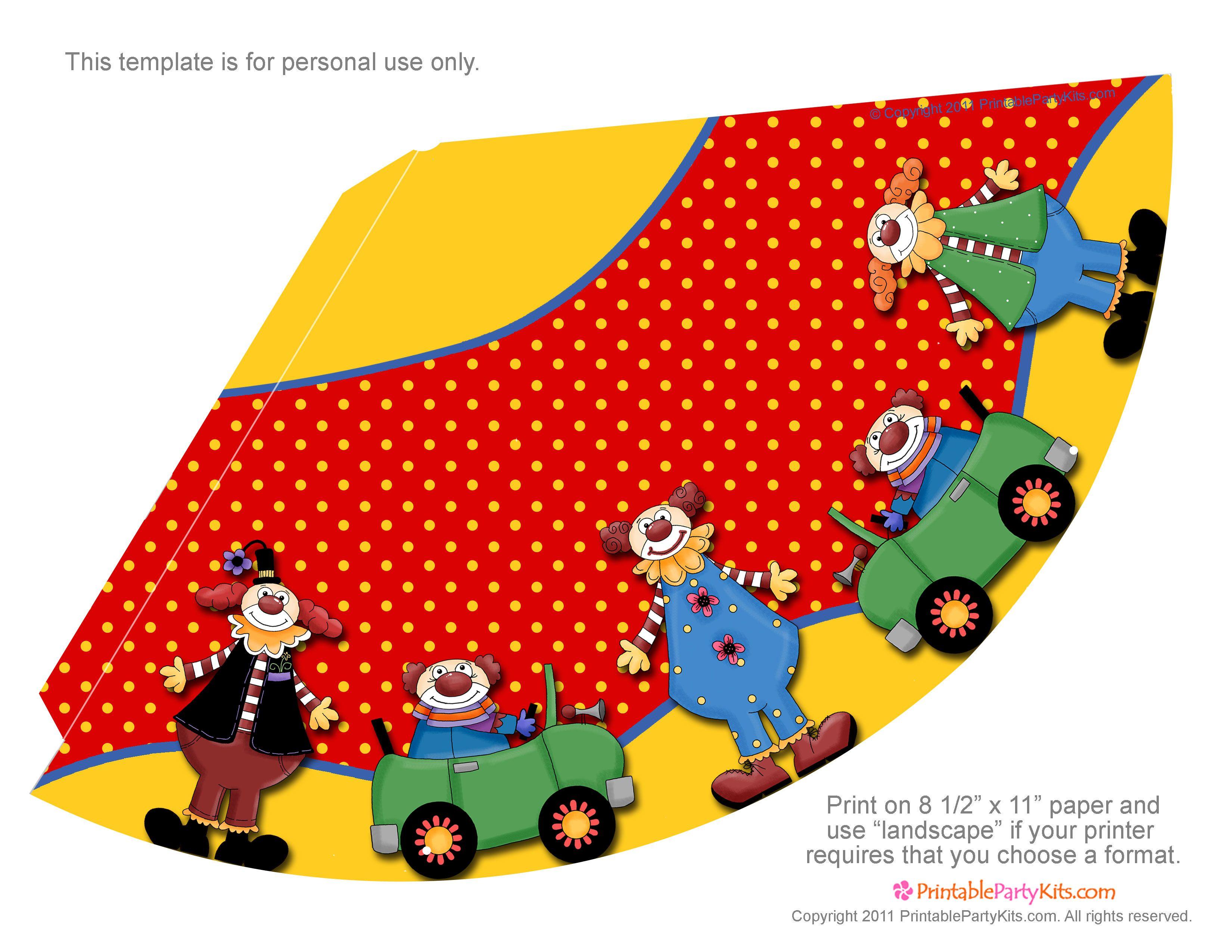9a3d429f7ac77 Para imprimir  gorros para fiestas infantiles.