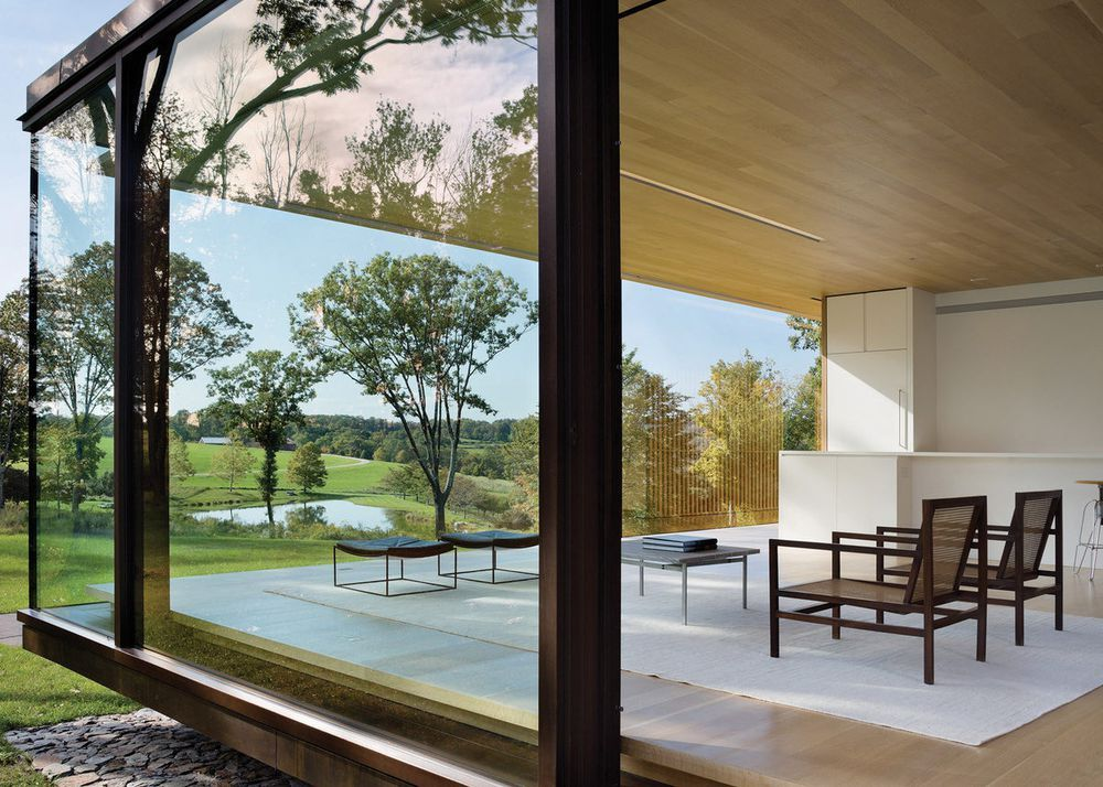 Prefab Glass House Makes Picture Perfect Rural Retreat