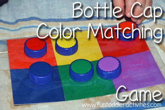 Color Matching with Bottle Caps | Matching games, Cap and Bottle