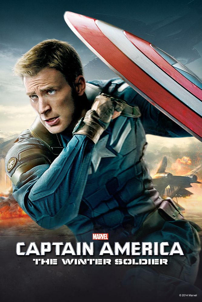Captain America The Winter Soldier Movie Poster Chris Evans Samuel L Jackson Scar Captain America Winter Soldier Disney Movie Club Disney Movies Anywhere