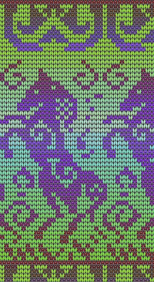 La selección de colores para jacquard tejer | Knitting Chart & Cross ...