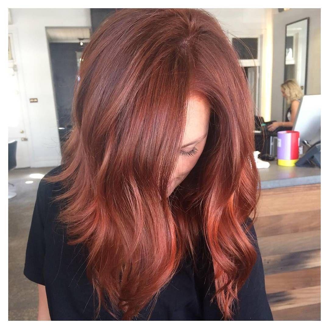Gorgeous Dark Copper Creation Dark Auburn Hair Dark