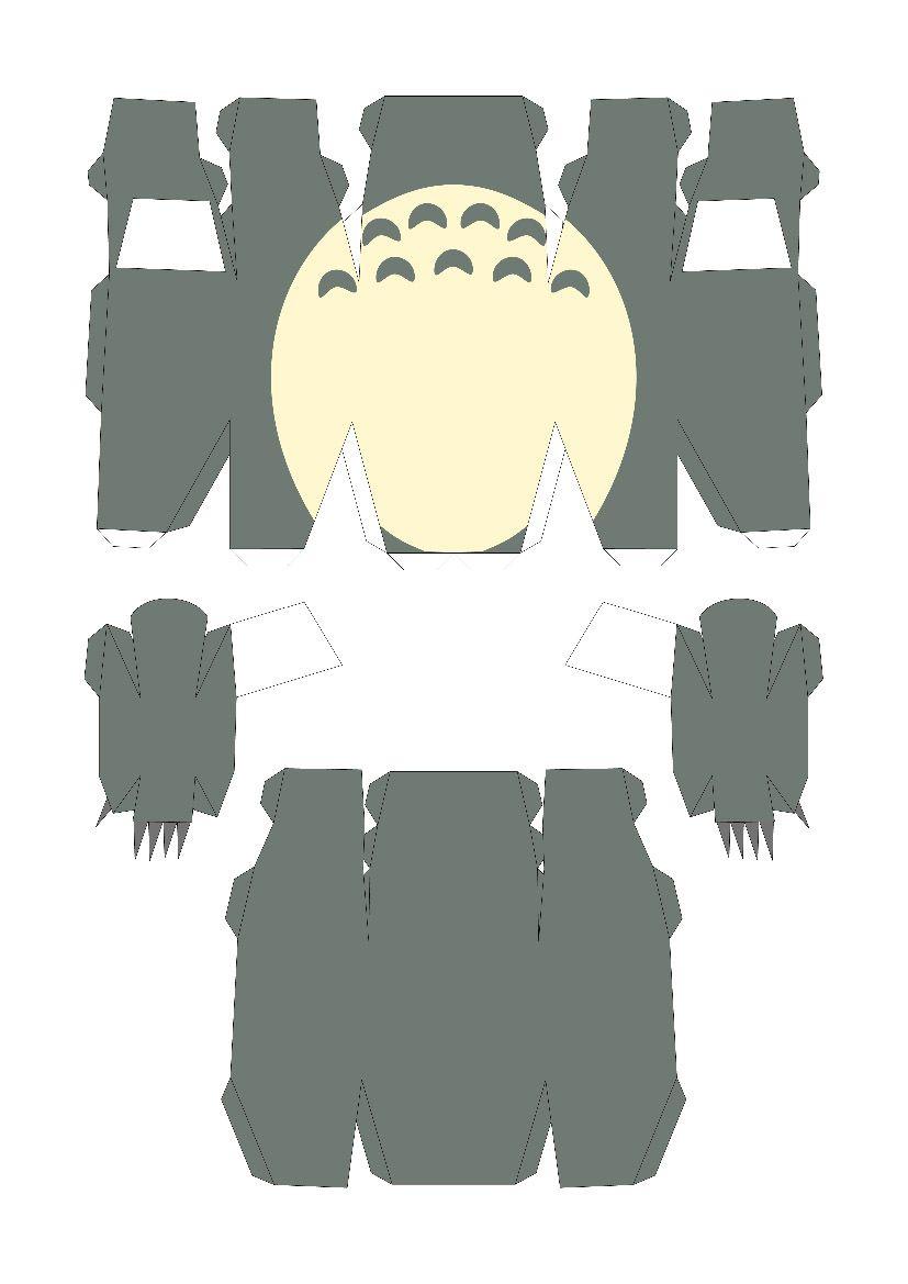 Totoro Papercraft Template  Totoro    Totoro