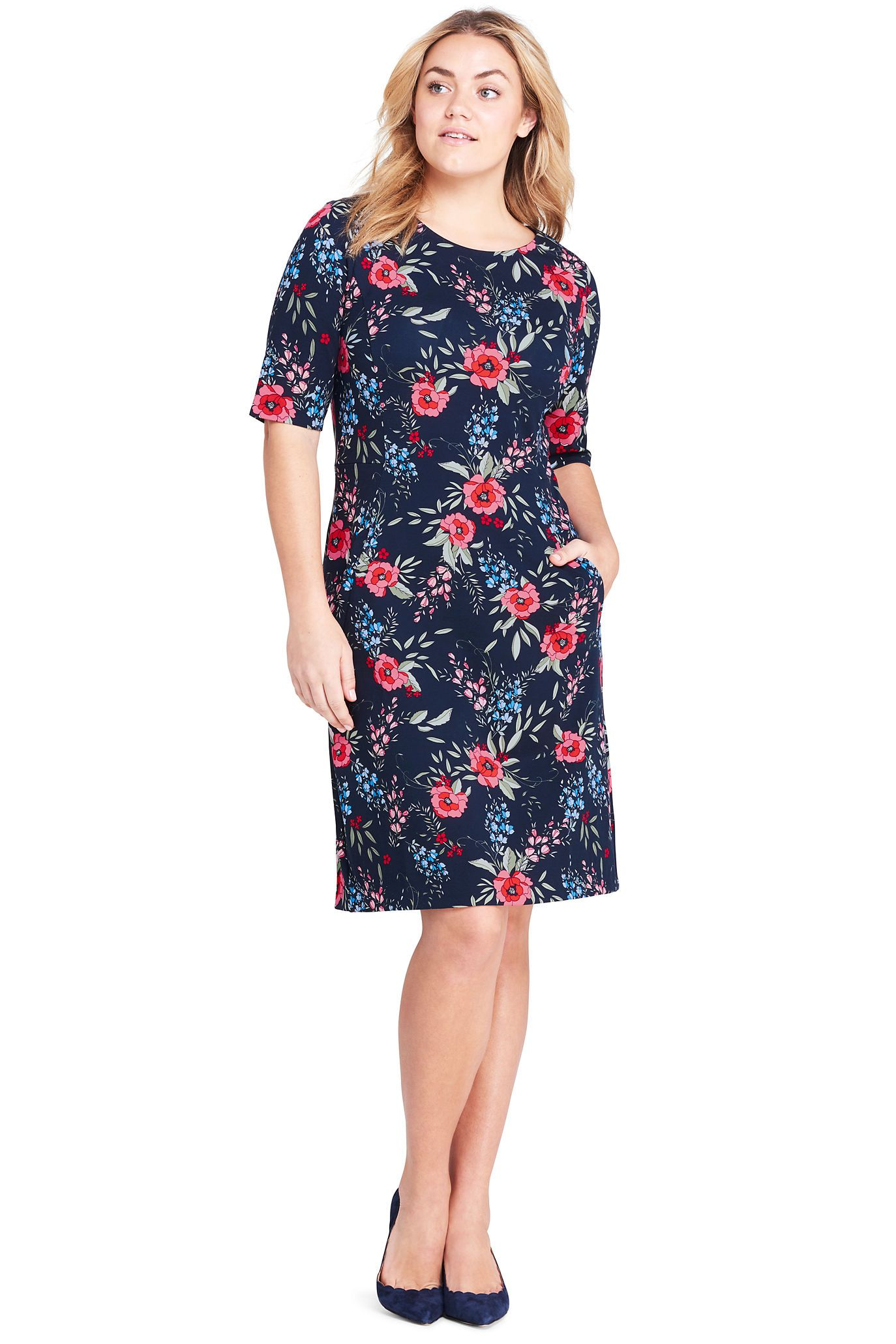 Lands End ponte dress - look! Pockets! | Thinking About Fashion ...