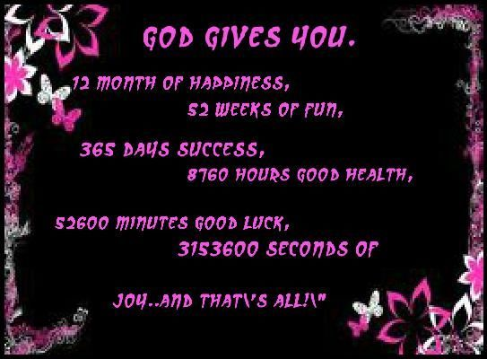 God Gives You 12 Months Of Happiness Happy New Year God Friend