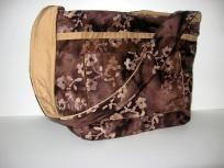 Modern and Chic Handcrafted Shoulder Bag/Purse/Hobo Bag/Diaper Bag/Book Bag Brown and Tan Batiek