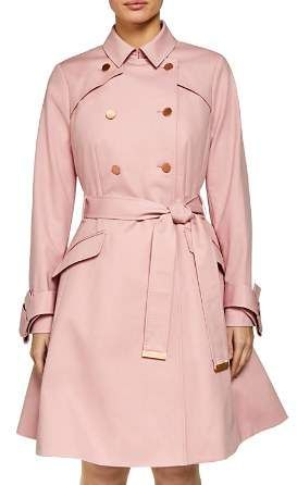 46adc25586eb Ted Baker Marrian Flared Trench Coat