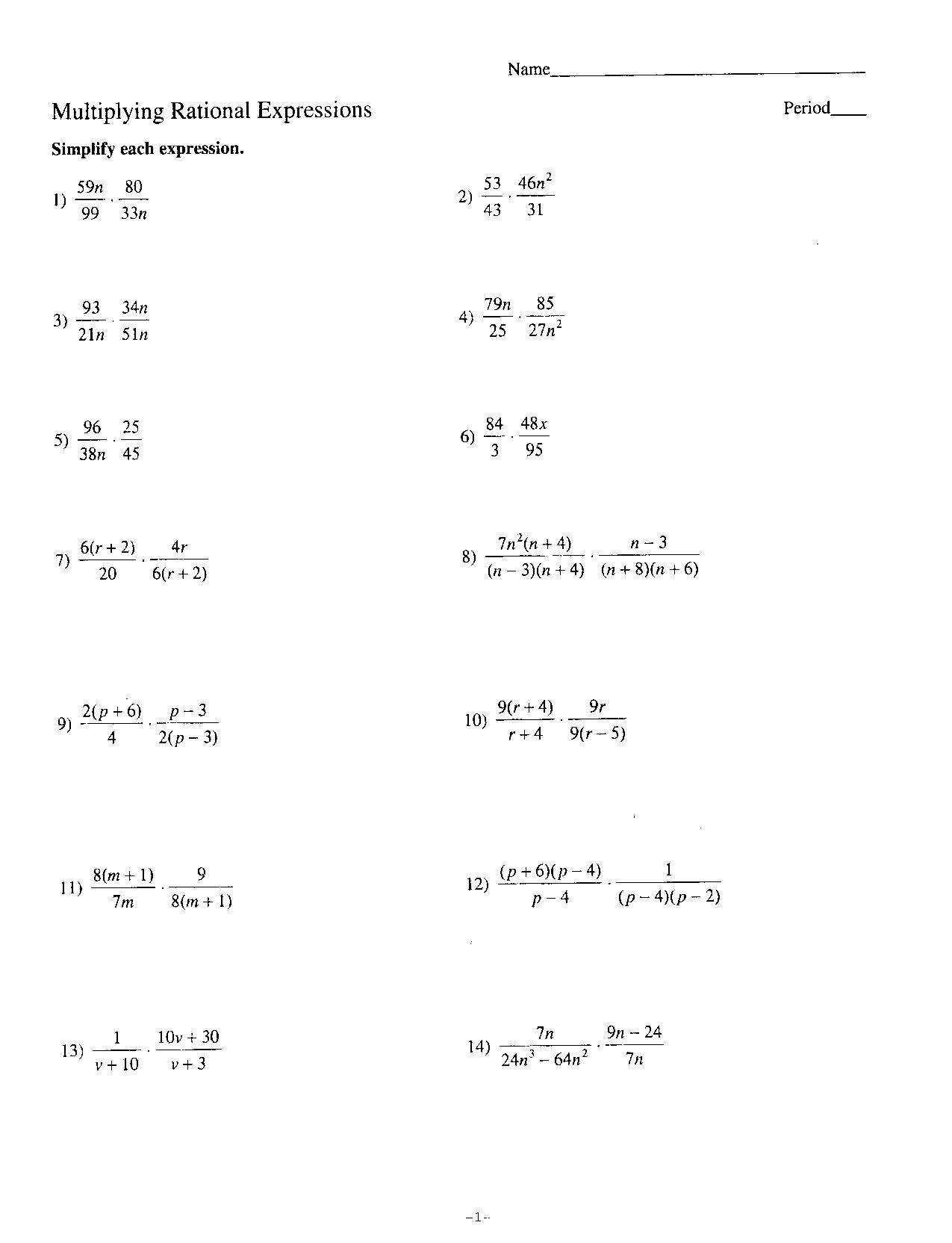 Image Result For Linear Equations Worksheet
