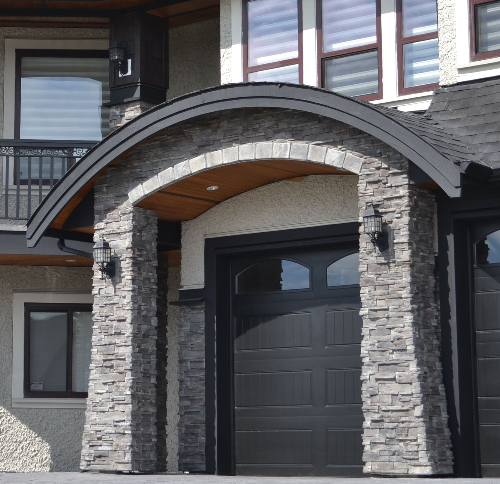 A home inspector will inspect home details like this garage archway