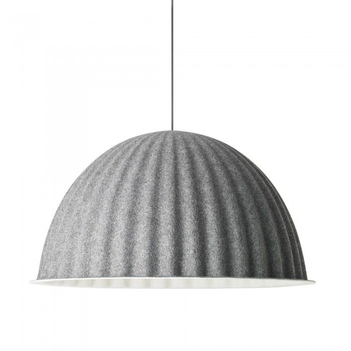 Under The Bell Pendant Lamp In Grey Acoustic Felt Muuto Pendant Lamp Unique Lamps Pendant Design