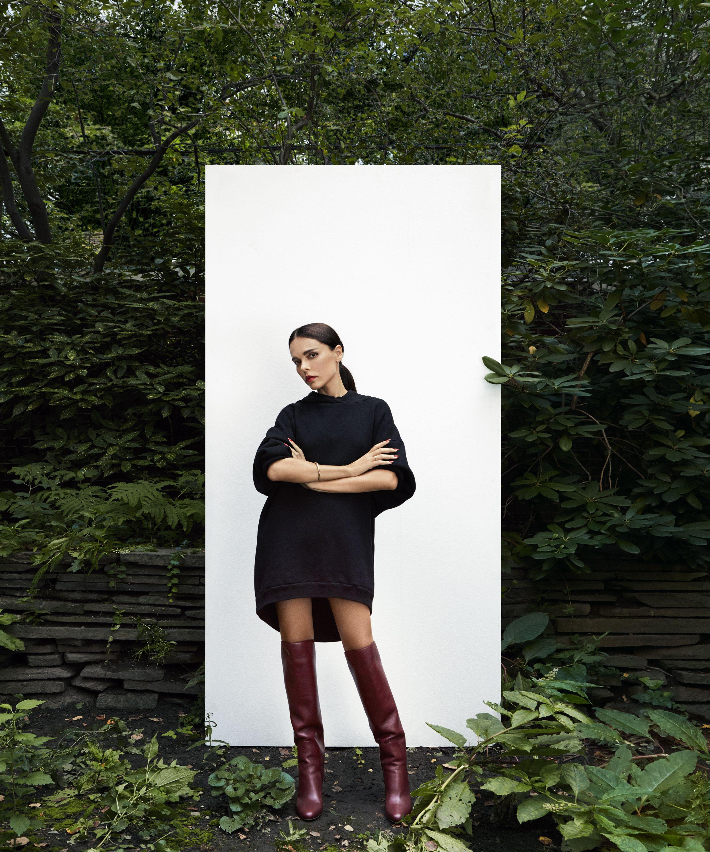 683cd90ee7e Evangelie Smyrniotaki wearing the Jimmy Choo MINERVA 65 Vino Smooth Leather  Pull On Boots