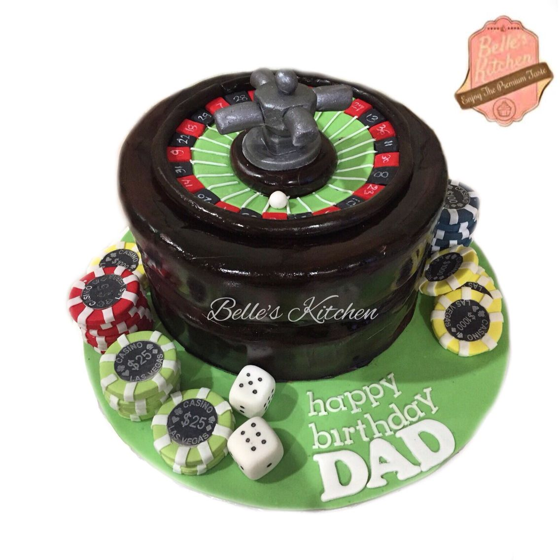 Casino Cake By Belle's Kitchen, To Order Contact Our WA: 081294055786, Line: Bellekitchen, Also Be Sure To Follow Our Instagram @belle_kitchen