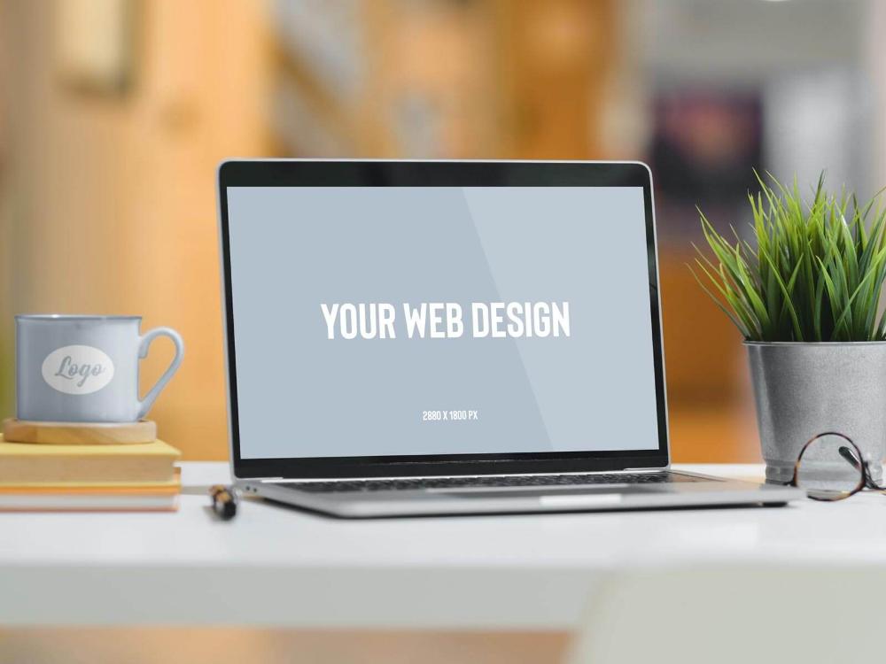Free Mug Laptop Website Mockup Psd Website Mockup Psd Website Mockup Web Design Logo