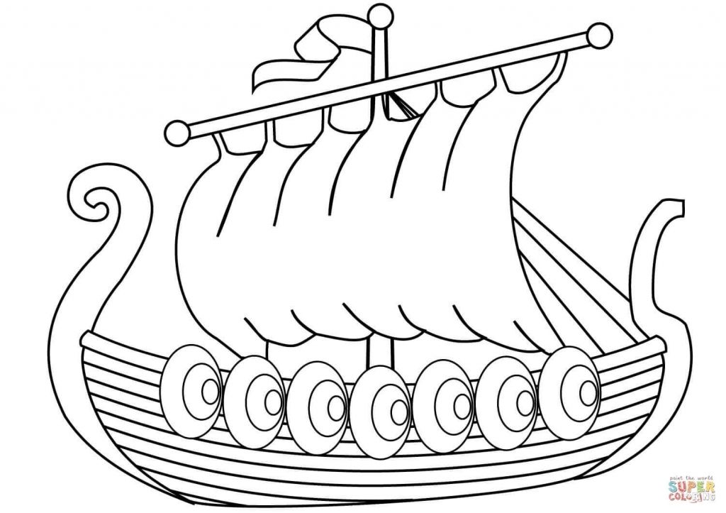 Pin By Get Highit On Coloring Pages Viking Ship Coloring Pages