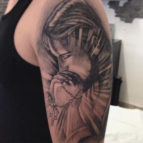 Jesus christ tattoo tattoos good and bad pinterest for Tattoo of jesus