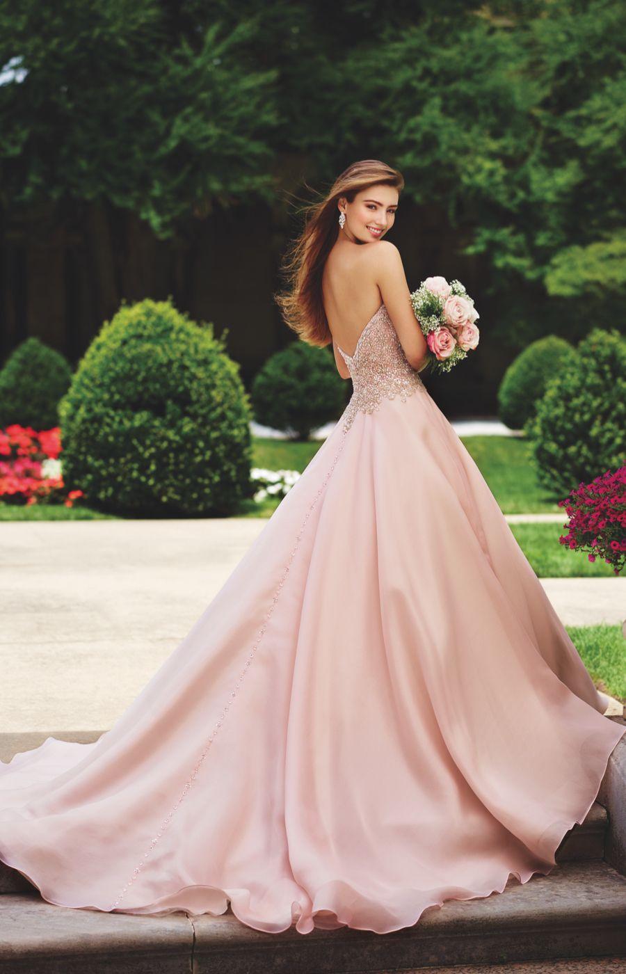 Dipped wedding dress  The gorgeous  David Tutera for Mon Cheri bridal collection