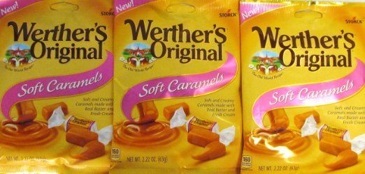 Werther S Original New Soft Caramels 2 22 Oz 63g 3 Pack With