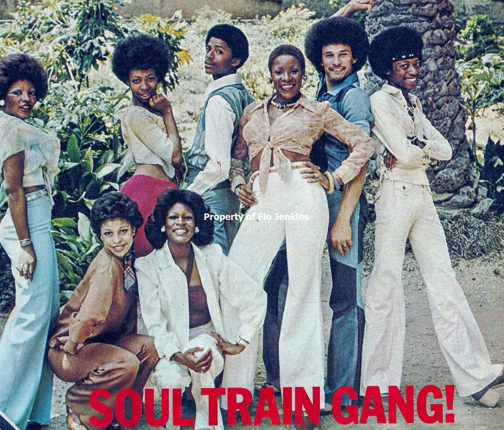 Soul Train Gang in 'Right On! Magazine'
