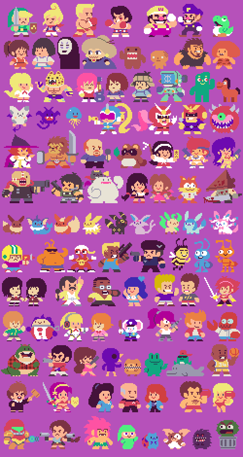 100 taito style sprites part 3 click here for all of them together