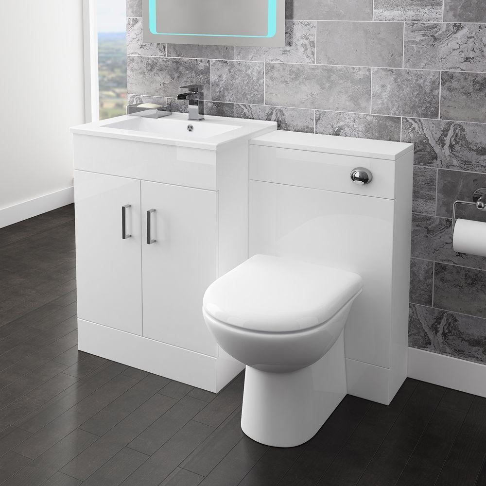 Turin 500mm Btw Toilet Unit Inc Cistern Round Pan Depth 200mm