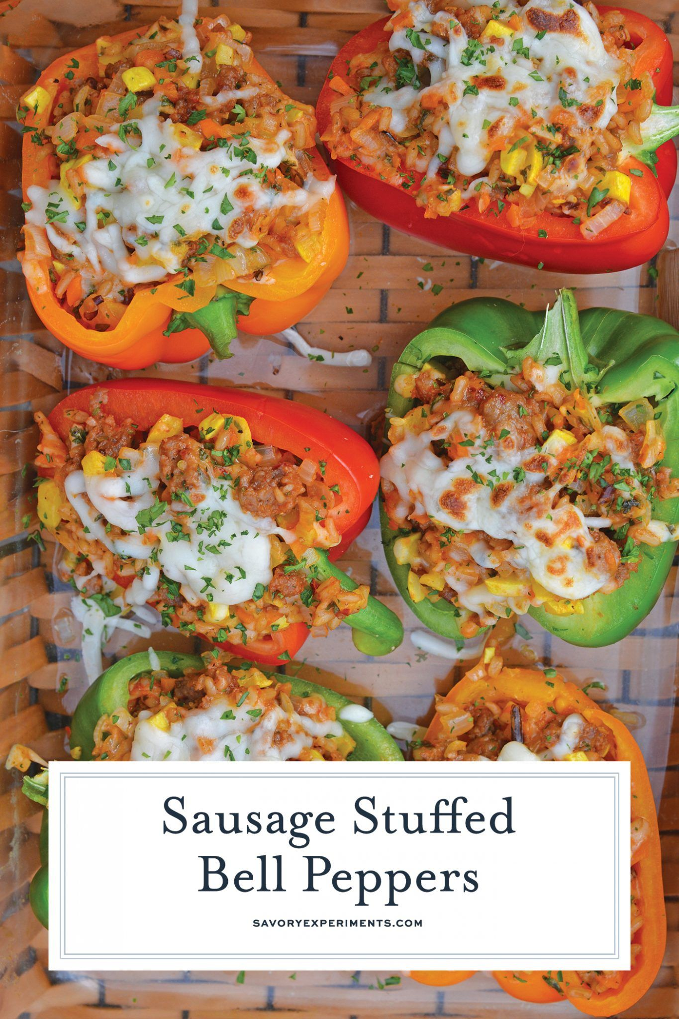 Sausage Stuffed Bell Peppers Are A Classic Italian Dish Using Stuffed Peppers With Rice Stuffed Peppers Ground Italian Sausage Recipes Italian Sausage Recipes
