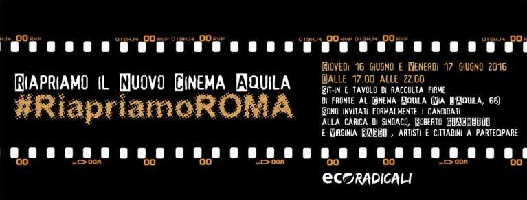Riapriamo il Cinema Aquila #RiapriamoROMA