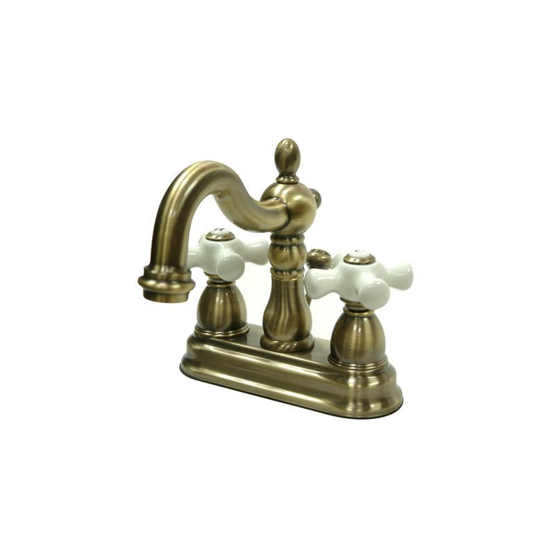 Kingston Brass KB160.PX Heritage Centerset Bathroom Faucet with ...