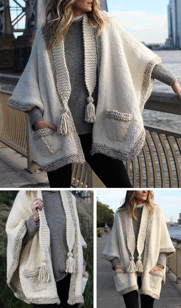 Knitting Pattern or Kit for Cobble Hill Morning Cape