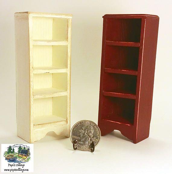 Dollhouse Miniature 1:12 Scale Cherry Wood Plate Rack Wall Shelf