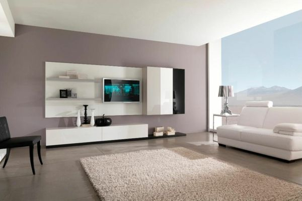 Wohnzimmer Design Altrosa Wandfarbe