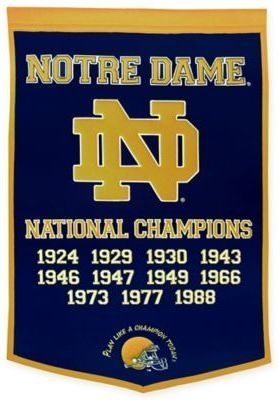 Ncaa University Of Notre Dame National Champions Dynasty Banner