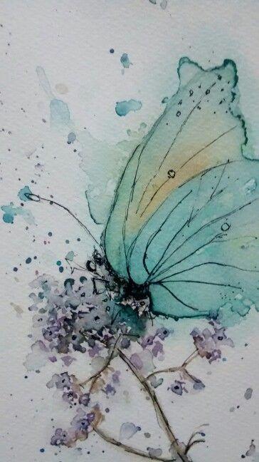 aquarelles illustrations pinterest aquarelles papillon et peinture. Black Bedroom Furniture Sets. Home Design Ideas