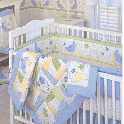 Amazon Com Moon And Stars 9 Piece Baby Crib Bedding Set Crib Coordinates Baby Baby Bed Baby Crib Bedding Sets Baby Bedding Sets
