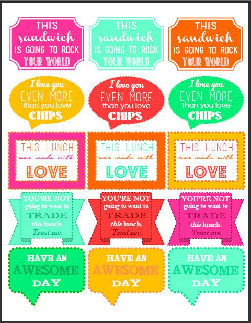 30 Printable Lunch Box Notes So Fun And Cute Sayings Etsy Audrey