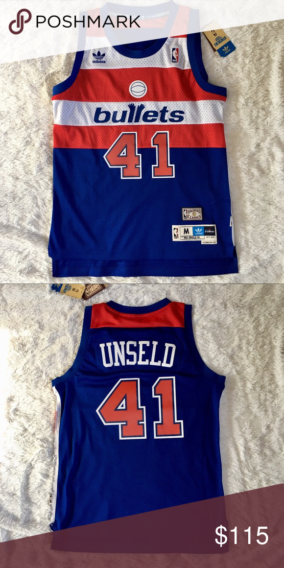 b282ebf73c03 Adidas Washington Bullets Wes Unseld NBA Jersey Men s Small. I m currently  cleaning out my whole closet. Please feel free to check out my other jerseys.  ...