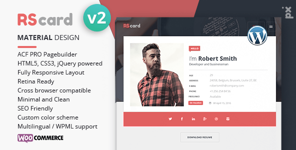 download rscard v2 0 4 resume cv vcard theme nulled latest