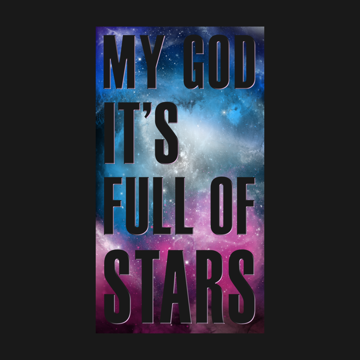 Inspired by the famous quote from 2001 a space odyssey 2001 stanley kubrick full of stars space space scene stellar star quote movie quotes