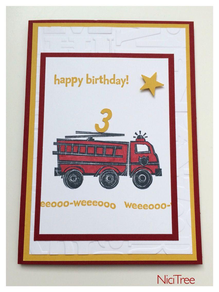 Stampin Up You Re My Hero Birthday Card Geburtstagskarte Fire