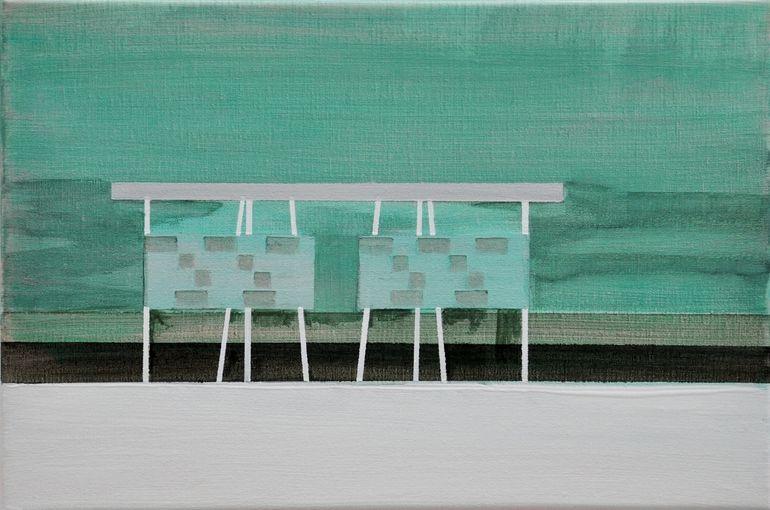 """Saatchi Online Artist: Cécile van Hanja; Oil, 2010, Painting """"Pile-dwelling 3"""""""