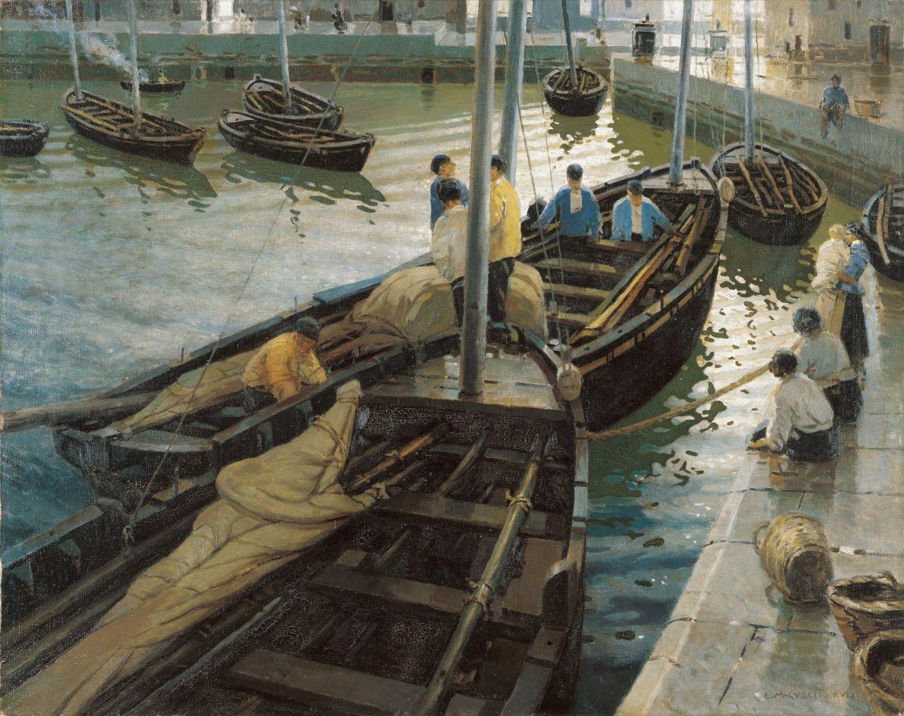 La vuelta de la pesca - Enrique Martinez Cubells, 1911